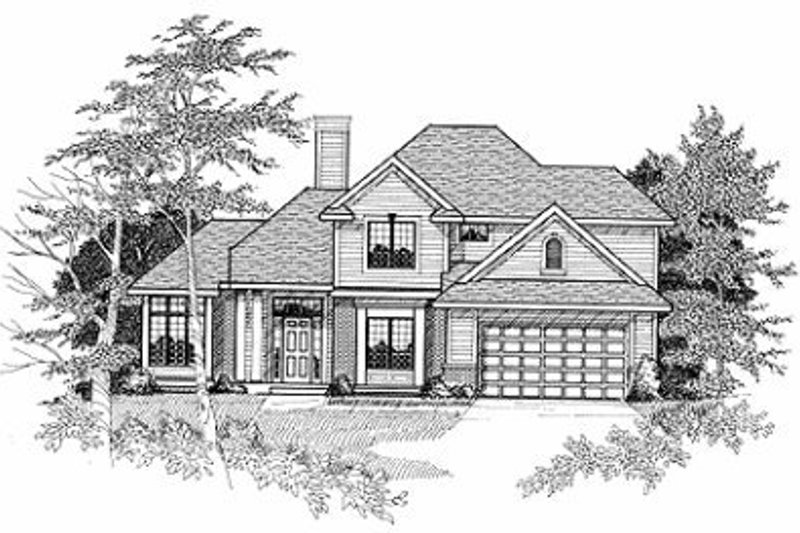 Traditional Style House Plan - 4 Beds 2.5 Baths 2315 Sq/Ft Plan #70-368 Exterior - Front Elevation