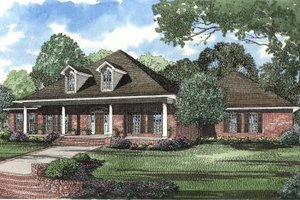 Traditional Exterior - Front Elevation Plan #17-2001