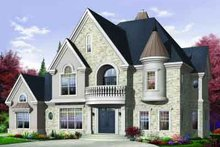 House Plan Design - European Exterior - Front Elevation Plan #23-593