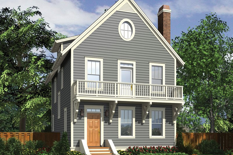 Traditional Exterior - Front Elevation Plan #48-965