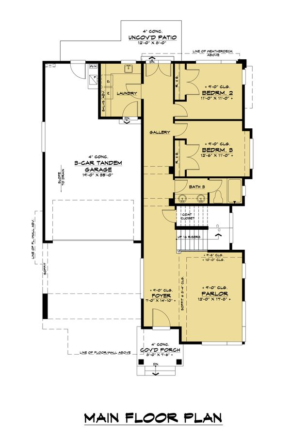Dream House Plan - Contemporary Floor Plan - Main Floor Plan #1066-126