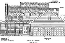 Home Plan - Country Exterior - Other Elevation Plan #60-569