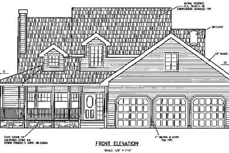 Country Exterior - Other Elevation Plan #60-569 - Houseplans.com