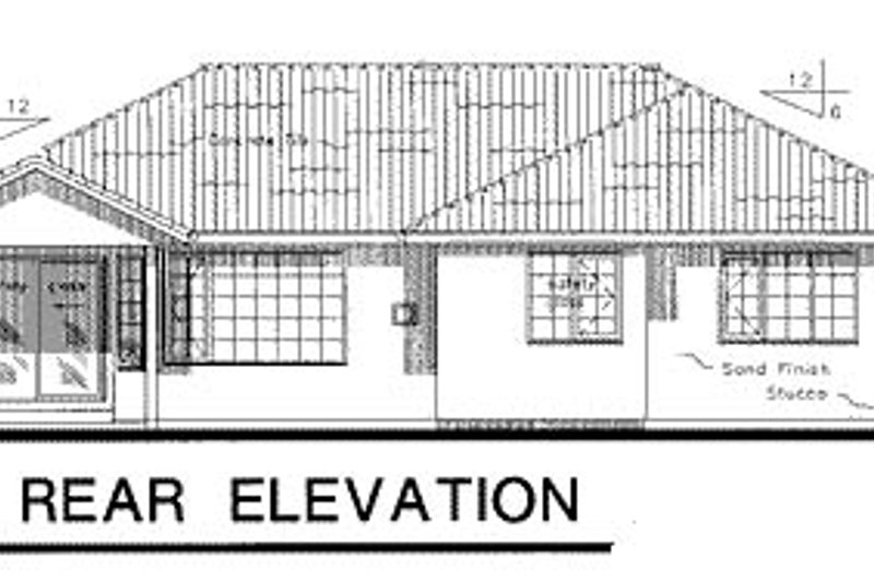 Traditional Exterior - Rear Elevation Plan #18-199 - Houseplans.com