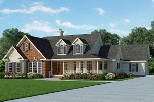 Country Exterior - Front Elevation Plan #929-348