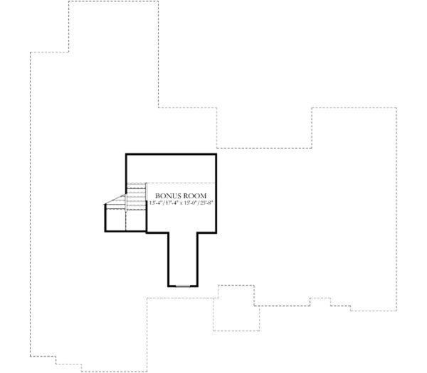 European Floor Plan - Upper Floor Plan Plan #80-182