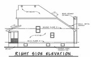 Craftsman Style House Plan - 3 Beds 2.5 Baths 1699 Sq/Ft Plan #20-1220 Exterior - Rear Elevation