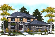 Home Plan - European Exterior - Front Elevation Plan #70-877