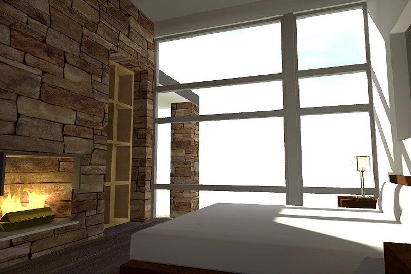 Modern Interior - Master Bedroom Plan #64-221 - Houseplans.com