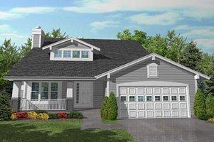 Craftsman Exterior - Front Elevation Plan #50-102