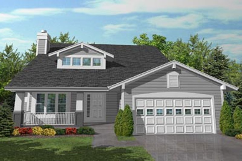Craftsman Style House Plan - 3 Beds 2.5 Baths 2103 Sq/Ft Plan #50-102 Exterior - Front Elevation