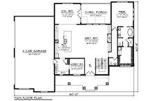 Craftsman Floor Plan - Main Floor Plan Plan #70-1470