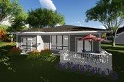 Prairie Style House Plan - 2 Beds 2 Baths 1432 Sq/Ft Plan #70-1261 Exterior - Rear Elevation