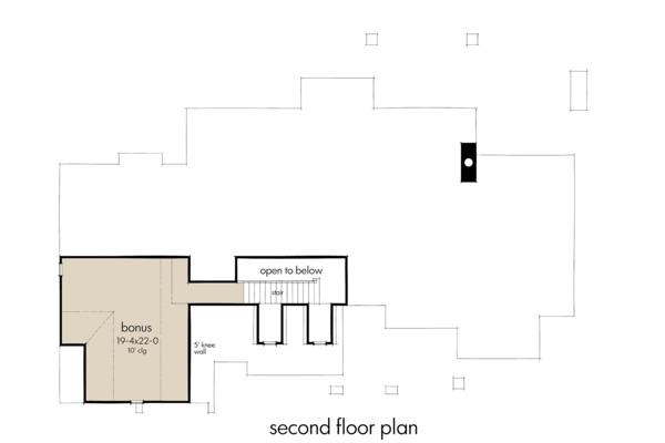 Farmhouse Floor Plan - Upper Floor Plan #120-264