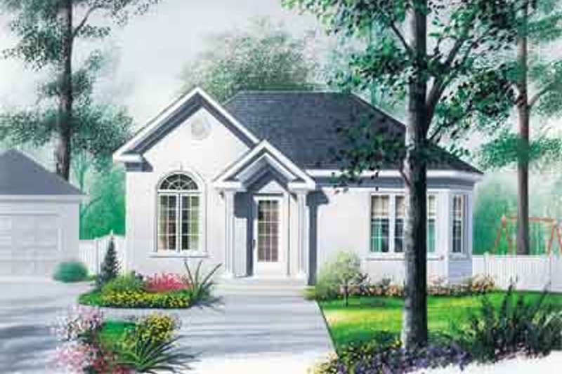 Cottage Exterior - Front Elevation Plan #23-510