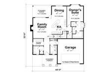 Craftsman Floor Plan - Main Floor Plan Plan #20-2261