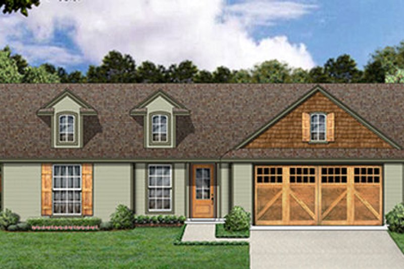 Ranch Style House Plan - 3 Beds 2 Baths 1173 Sq/Ft Plan #84-469 Exterior - Front Elevation