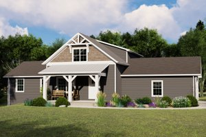 House Blueprint - Country Exterior - Front Elevation Plan #1064-114