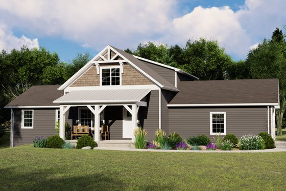 Country Exterior - Front Elevation Plan #1064-114