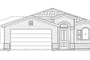 Adobe / Southwestern Style House Plan - 3 Beds 2.5 Baths 1680 Sq/Ft Plan #24-294 Exterior - Front Elevation