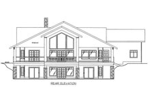 Architectural House Design - Ranch Exterior - Rear Elevation Plan #117-877