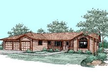 Dream House Plan - Ranch Exterior - Front Elevation Plan #60-245