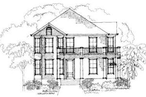 Southern Exterior - Front Elevation Plan #325-181