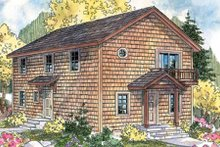 Home Plan - Colonial Exterior - Front Elevation Plan #124-666
