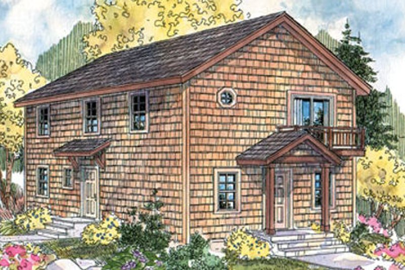 Colonial Exterior - Front Elevation Plan #124-666