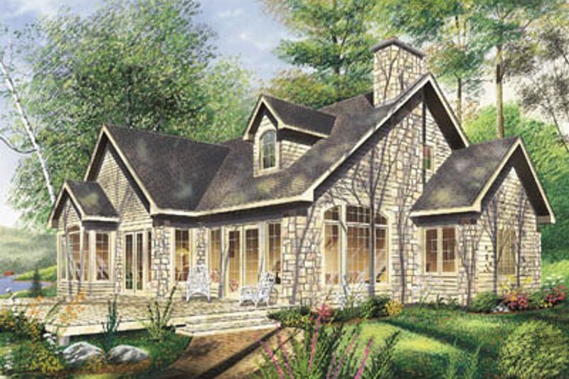 Traditional Style House Plan - 4 Beds 2 Baths 2037 Sq/Ft Plan #23-254 Exterior - Front Elevation