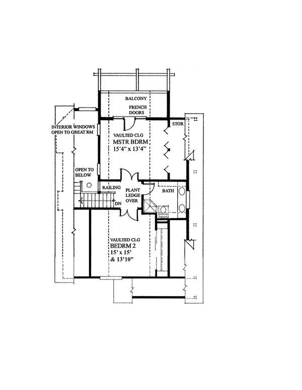 Cabin Style House Plan - 3 Beds 2 Baths 1538 Sq/Ft Plan #118-140 Floor Plan - Upper Floor Plan