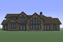 Craftsman Exterior - Rear Elevation Plan #892-28