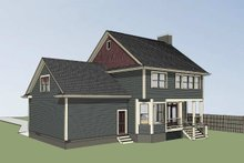 Country Exterior - Rear Elevation Plan #79-258