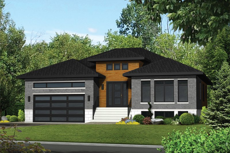 Home Plan - Contemporary Exterior - Front Elevation Plan #25-4912