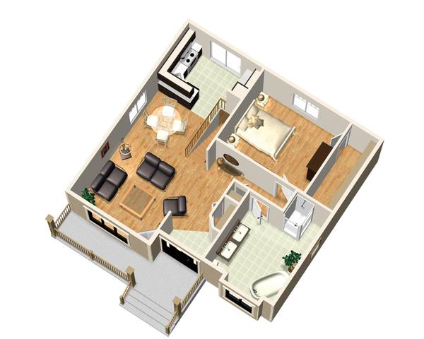 Country Floor Plan - Main Floor Plan Plan #25-4645