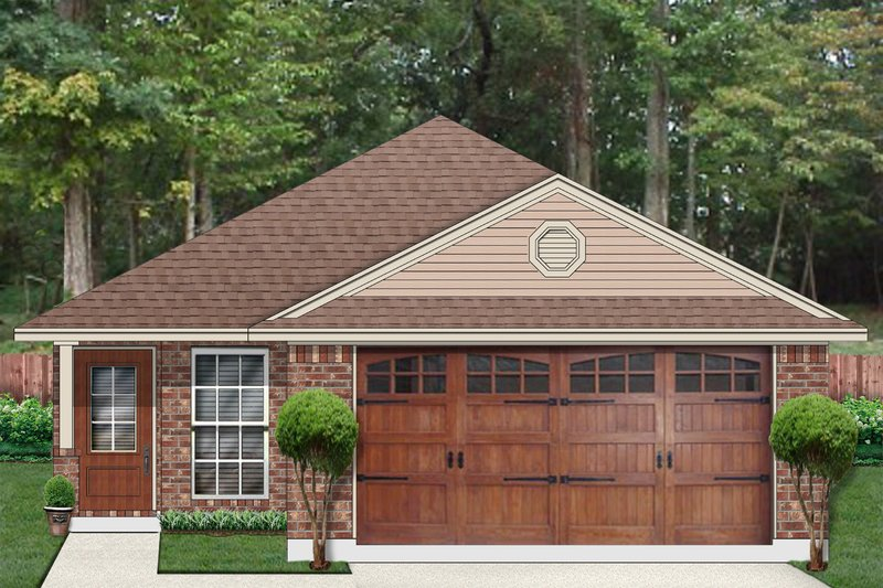 Traditional Style House Plan - 4 Beds 2 Baths 1680 Sq/Ft Plan #84-641 Exterior - Front Elevation