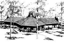 Dream House Plan - Modern Exterior - Front Elevation Plan #60-111