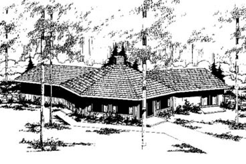 Modern Exterior - Front Elevation Plan #60-111 - Houseplans.com