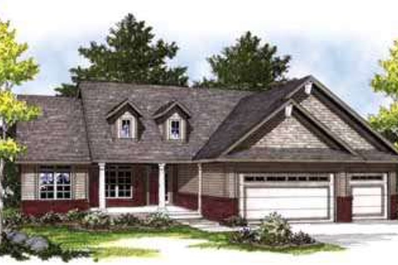 Home Plan - Traditional Exterior - Front Elevation Plan #70-826