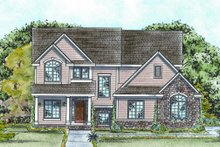 Dream House Plan - European Exterior - Front Elevation Plan #20-1718