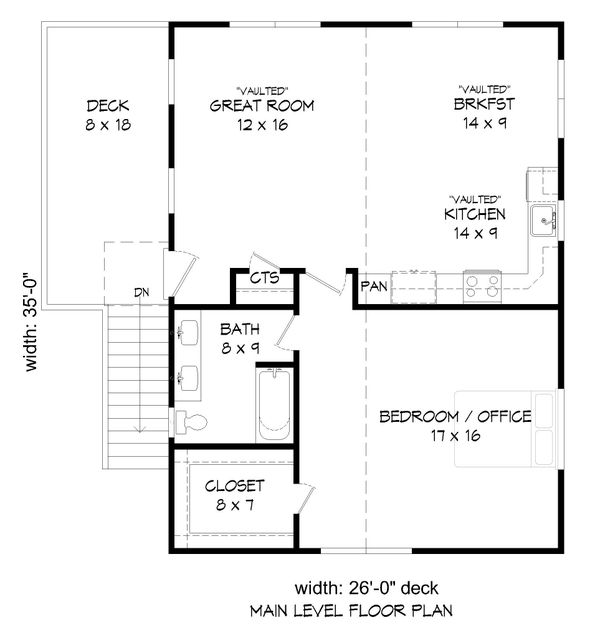 Country Floor Plan - Upper Floor Plan Plan #932-253