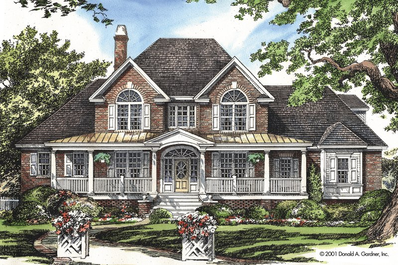 Country Exterior - Front Elevation Plan #929-12 - Houseplans.com
