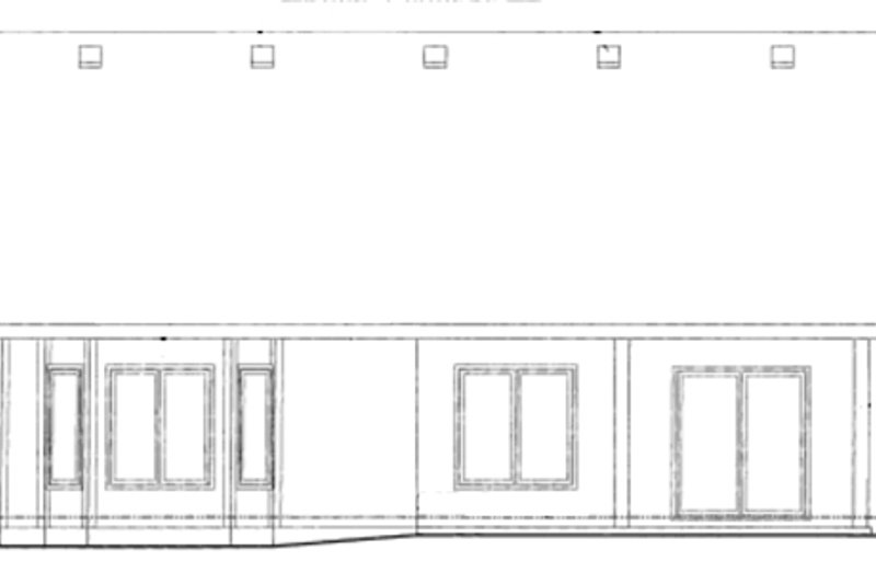 Traditional Exterior - Rear Elevation Plan #20-1613 - Houseplans.com