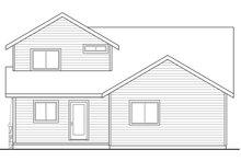 House Plan Design - Craftsman Exterior - Rear Elevation Plan #124-1210