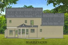 House Plan Design - Colonial Exterior - Rear Elevation Plan #1010-209