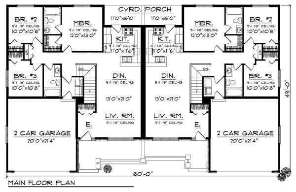 Traditional Floor Plan - Main Floor Plan Plan #70-891