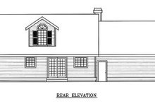 Colonial Exterior - Rear Elevation Plan #100-215
