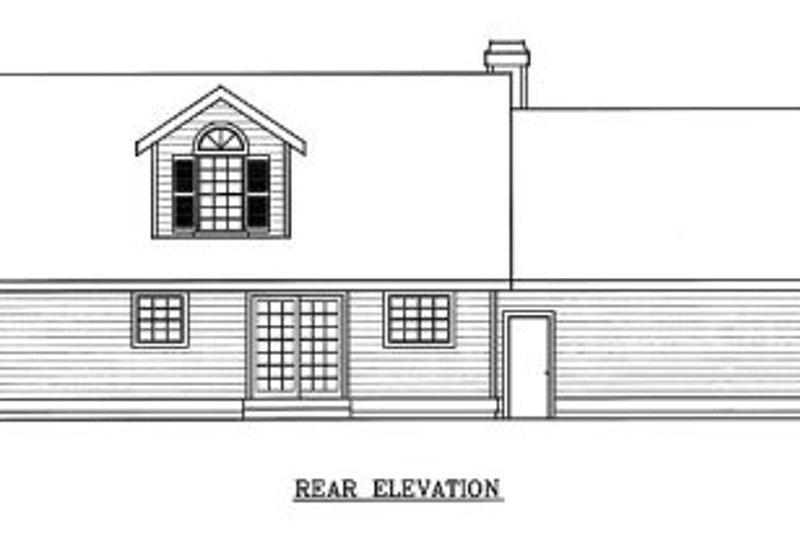 Colonial Exterior - Rear Elevation Plan #100-215 - Houseplans.com