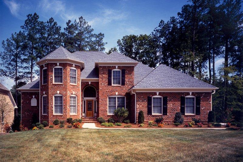 Architectural House Design - European Exterior - Front Elevation Plan #20-252