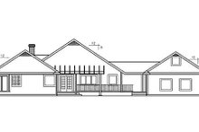Dream House Plan - Traditional Exterior - Rear Elevation Plan #60-243